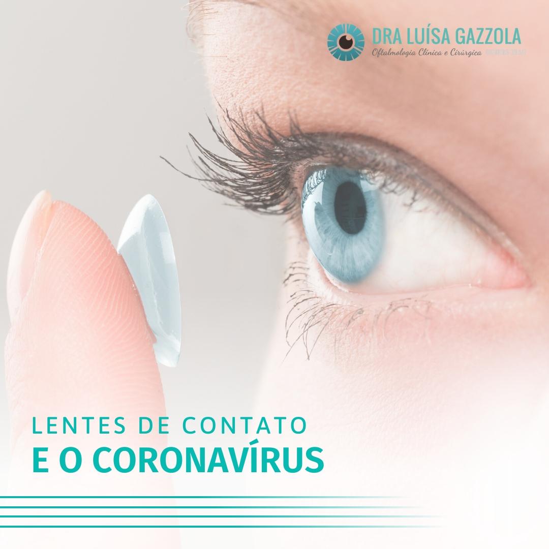 Lentes de contato e o coronavírus